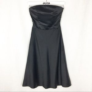 Armani Exchange Black Strapless Open Back Dress